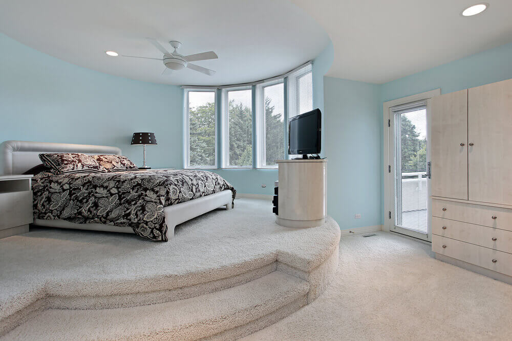 baby blue and white bedroom design private balcony off the bedroom bed is situated - Blue And White Bedroom Designs