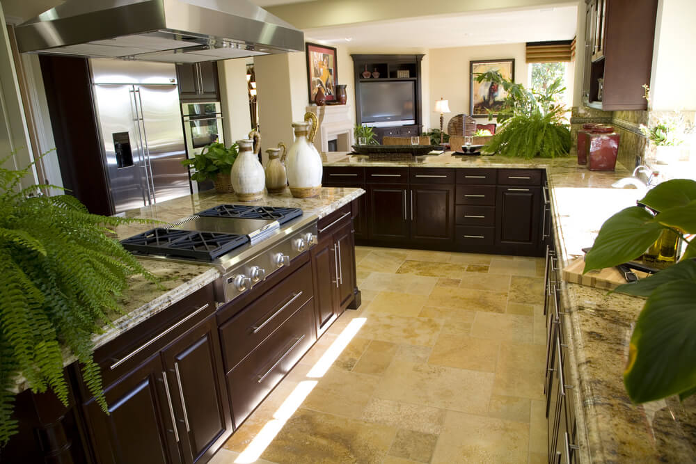 Eclectic mix of 42 custom kitchen designs for Dark tile kitchen floor