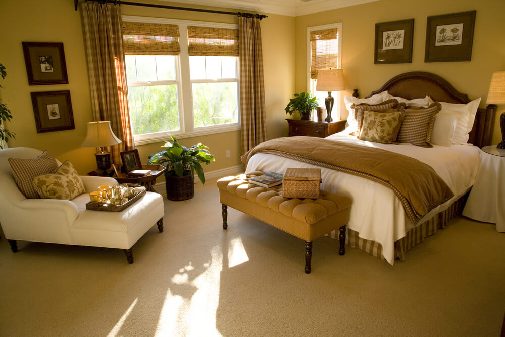 bedroom featuring a warm light brown tone - Brown Bedroom Design