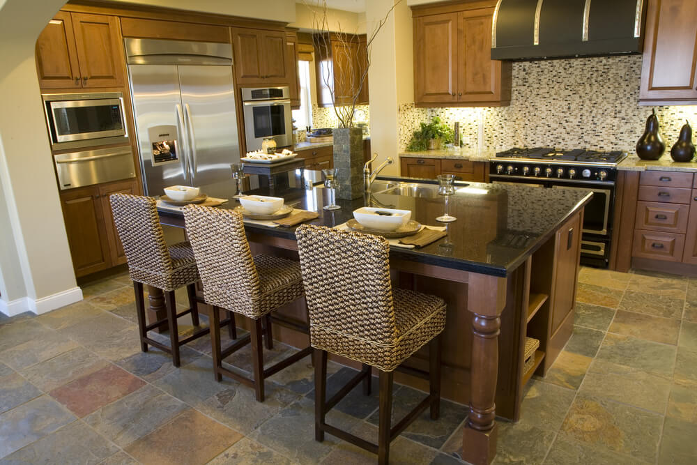 39 fabulous eat in custom kitchen designs - Large kitchen island with seating ...