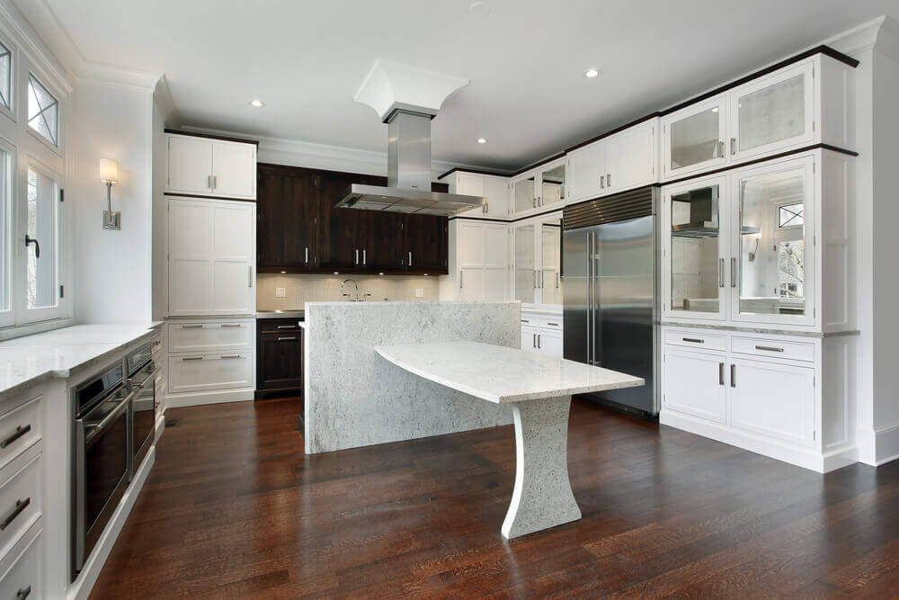 kitchens white cabinets and islands 766