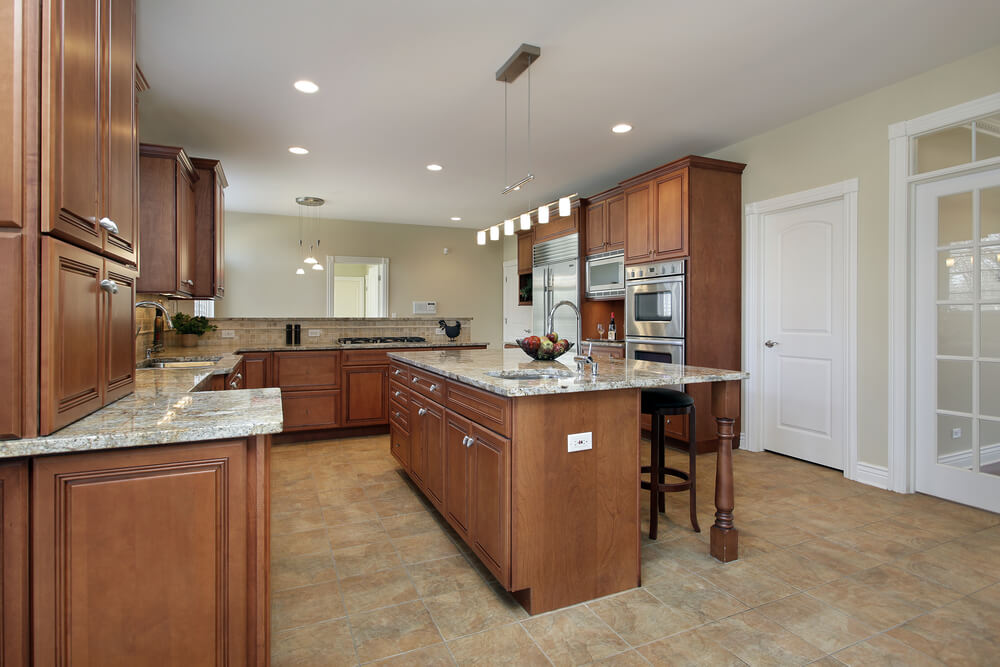 53 spacious new construction custom luxury kitchen designs for All wood kitchen island