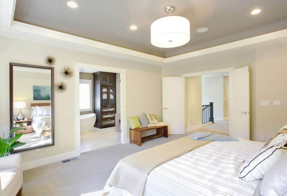 Not Really A White Bedroom; Instead Itu0027s Light Yellow With White Trim And  White Bedroom