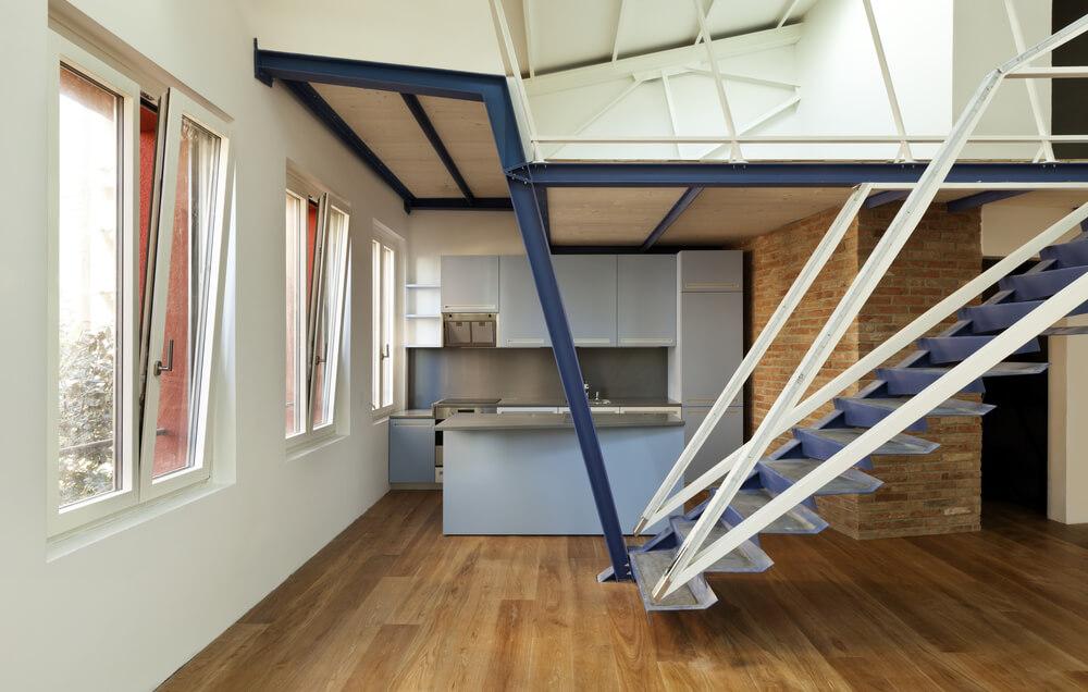 54 lofty loft room designs - Hauteur d une cuisine ...