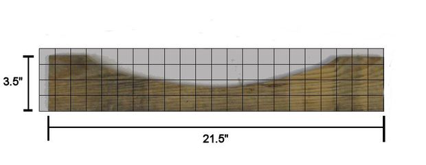 Measure/mark bottom back rest rail