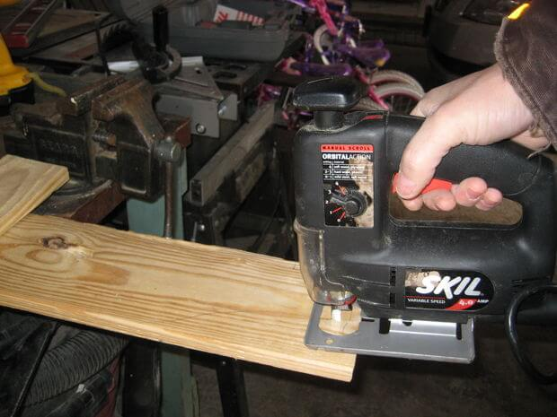 Cut out top and bottom brackets, rear legs/seat stringers, armrest brackets, and the armrests