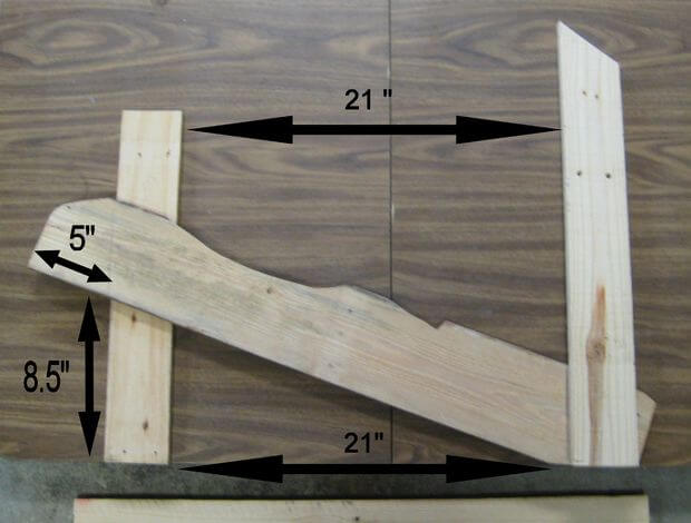Beginning assembly: connecting the front leg, rear back support, and seat stringer