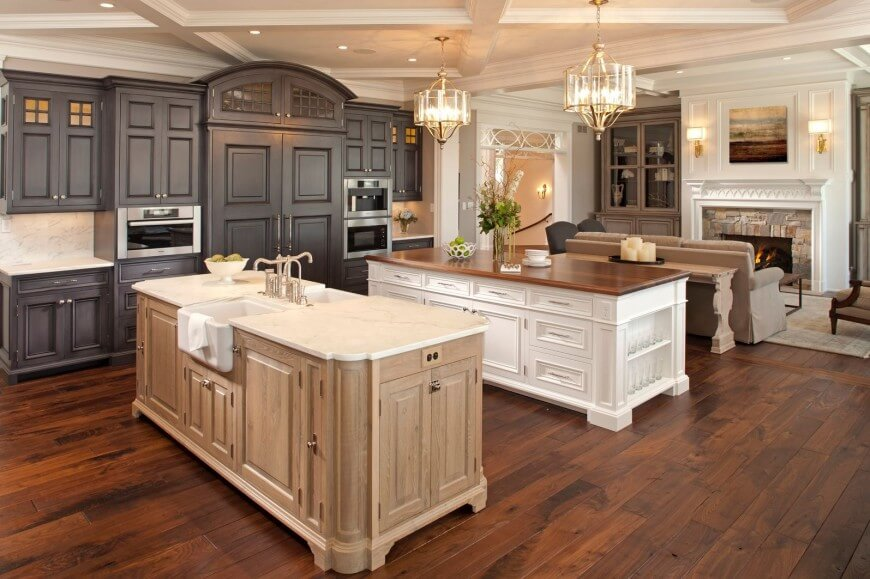 40 uber luxurious custom contemporary kitchen designs for Natural wood kitchen designs