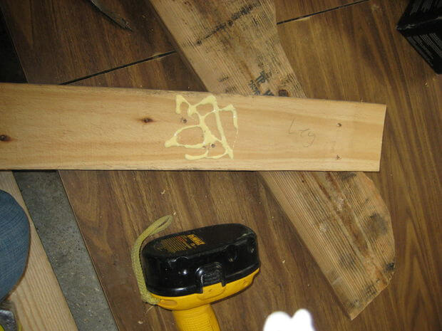 Gluing the chair