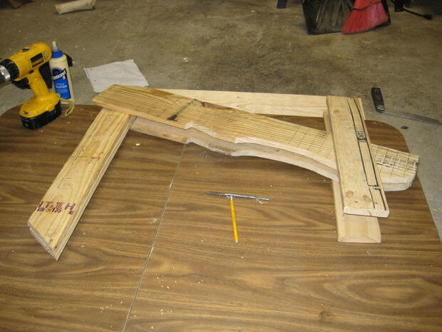 Assemble the opposite seat stringer/front leg/backrest support