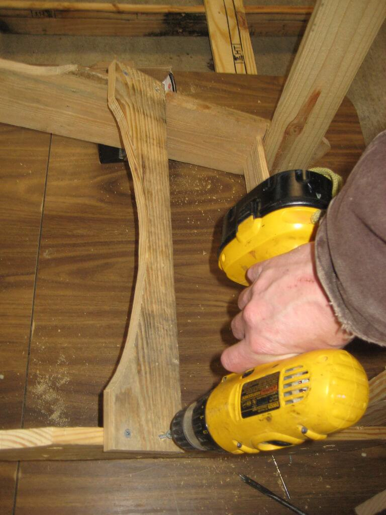 Connect bottom backrest rail