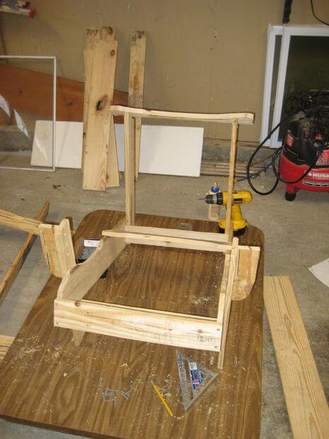 Connect top backrest rail