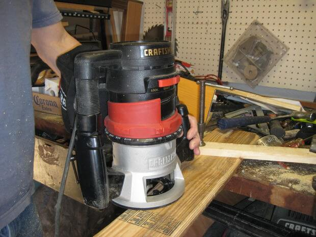 Route the edges of the armrests