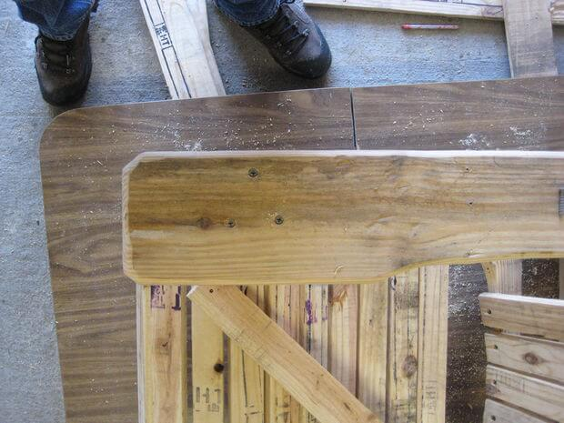 Armrest attached with screws