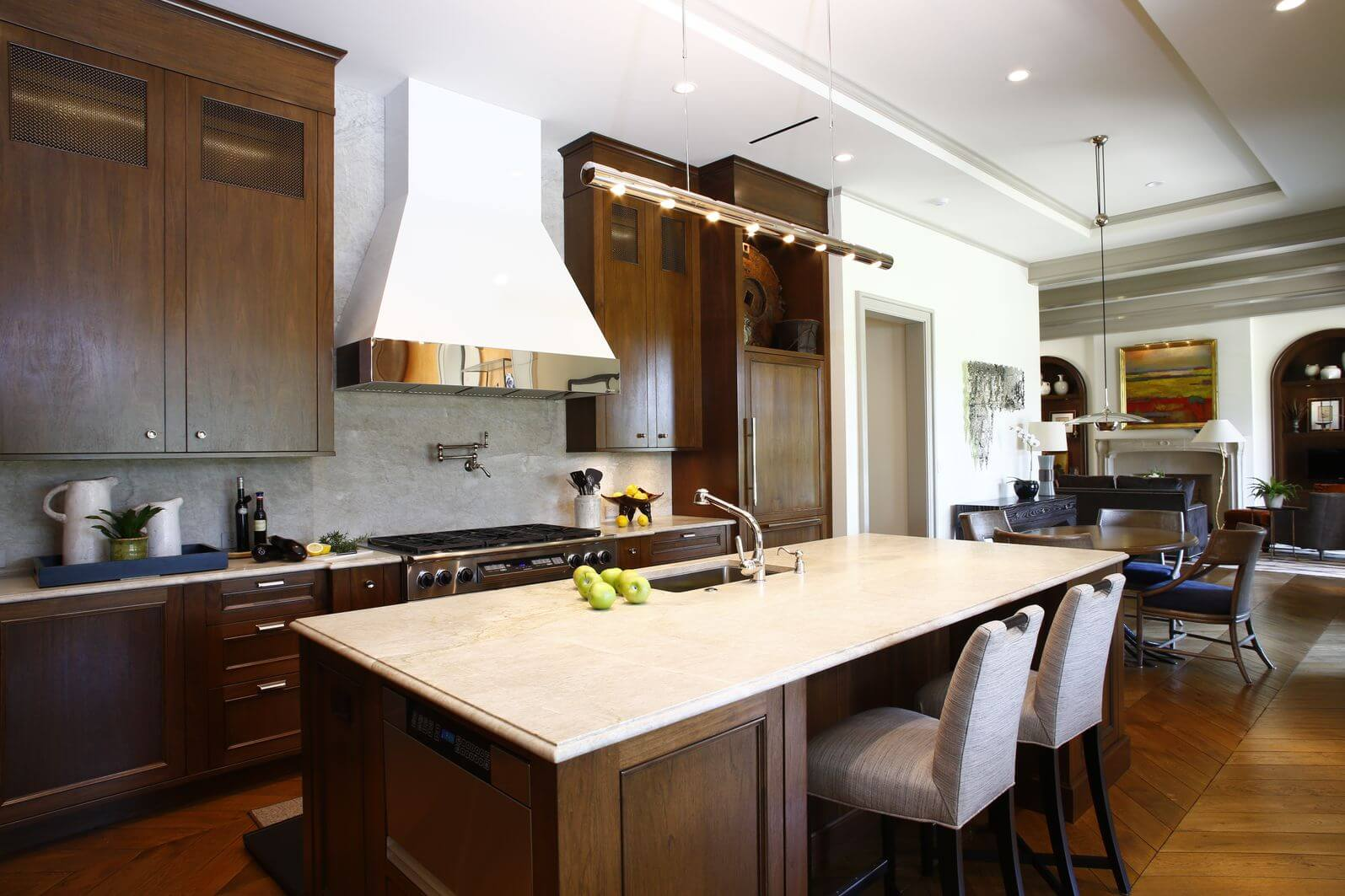 White Kitchens With Dark Wood Floors 40 Inviting Contemporary Custom Kitchen Designs Layouts