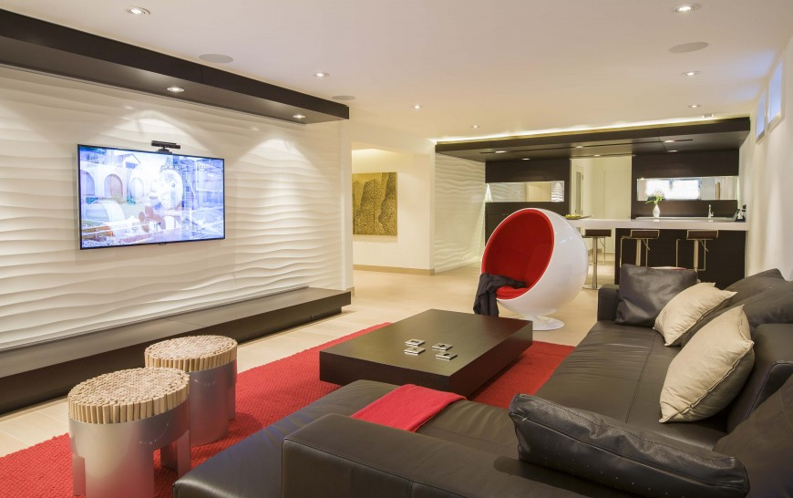 Home renovation results in stunning modern interior design for Living room tv channel 10