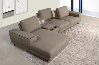 Sectional sofa with storage features