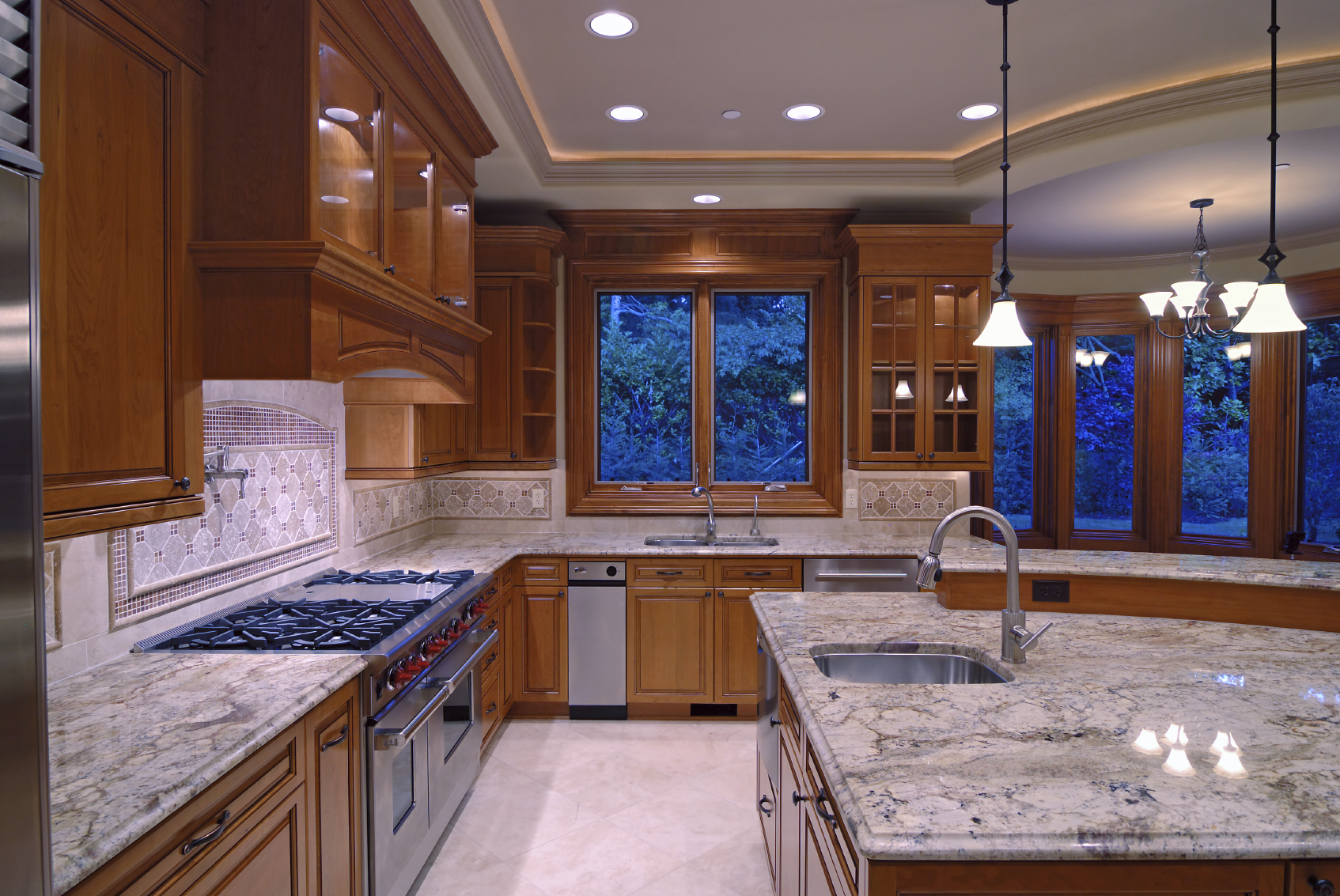 Contemporary high end natural wood kitchen designs