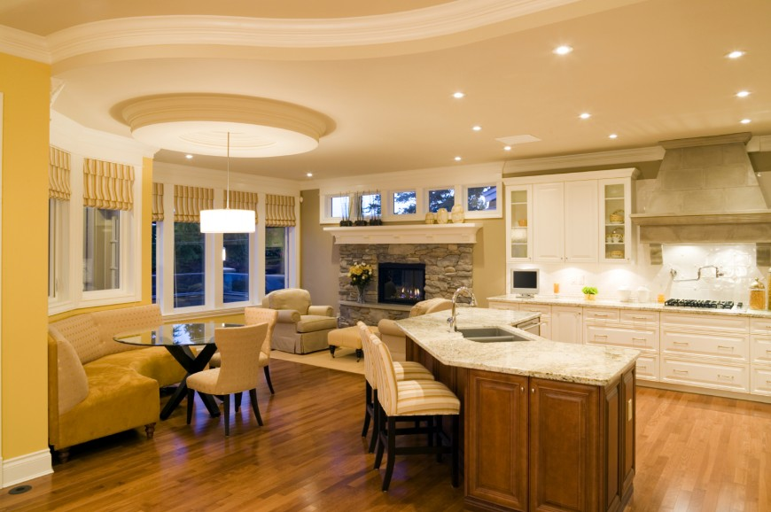 40 uber luxurious custom contemporary kitchen designs for Kitchen nook lighting ideas