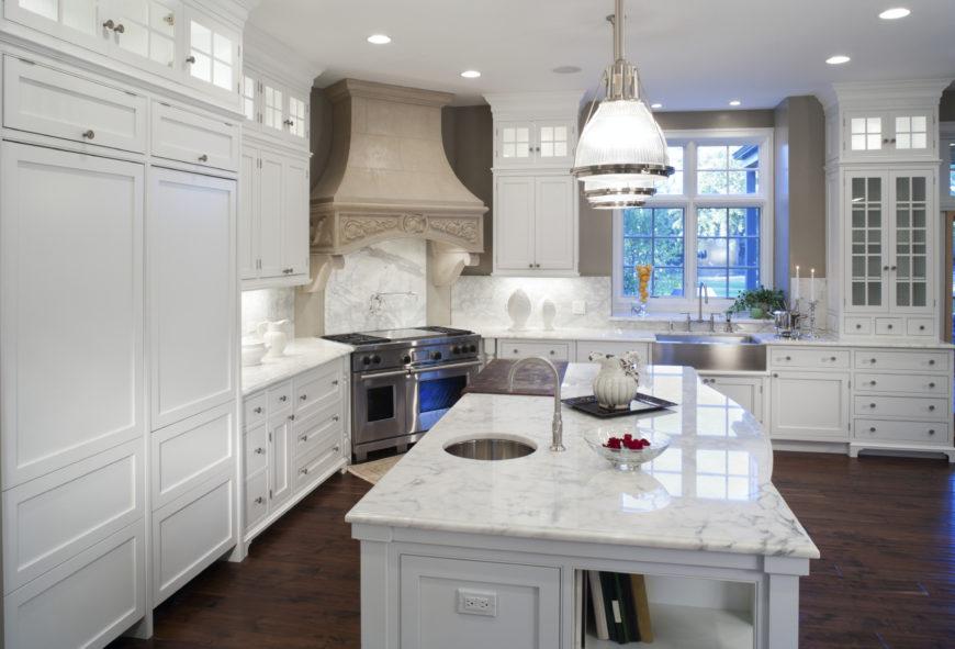 Modern White Kitchens With Dark Wood Floors 40 uber luxurious custom contemporary kitchen designs | home