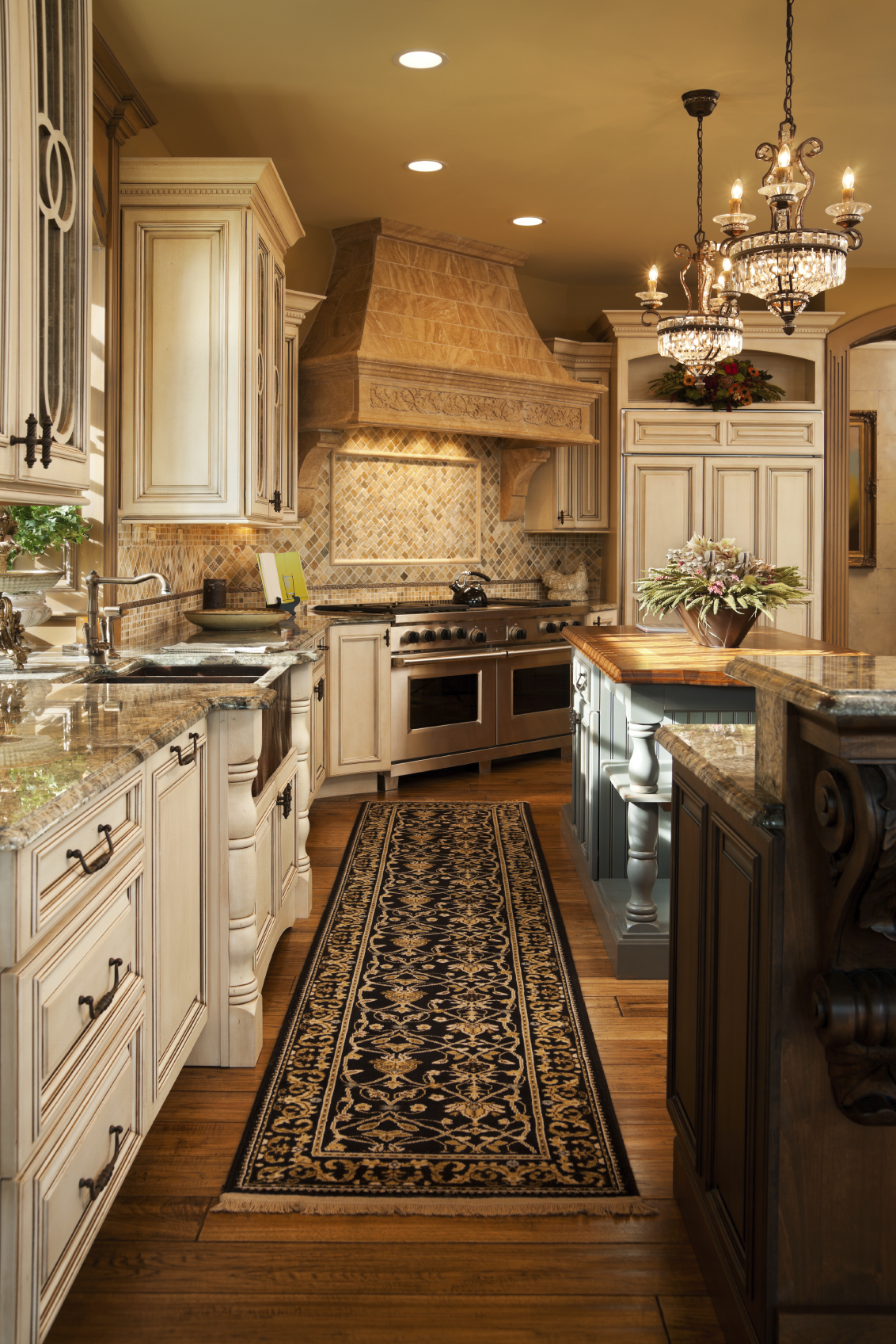 Painting kitchen countertops to look like granite - Interesting Uber Luxurious Custom Kitchen Designs With Painting Countertops To Look Like Stone