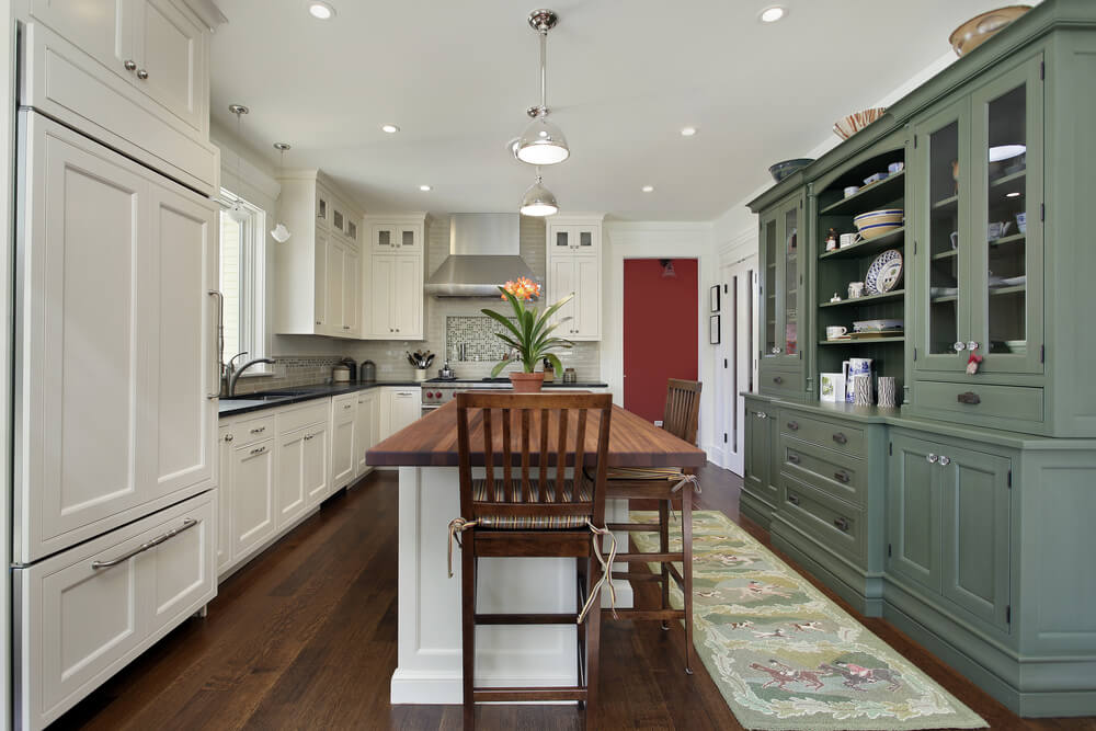 Another Lengthy Kitchen Centered Around A Sizable Island This Space Holds A Nearly All