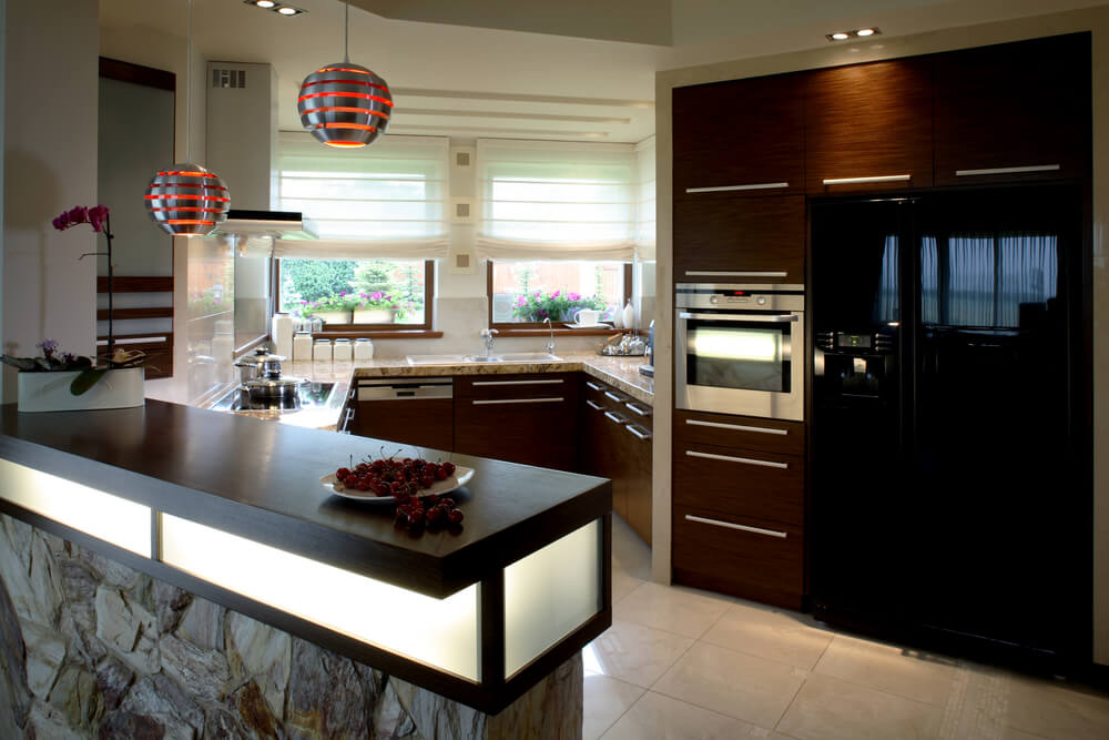 Modern Black Kitchen Cabinets 40 inviting contemporary custom kitchen designs & layouts