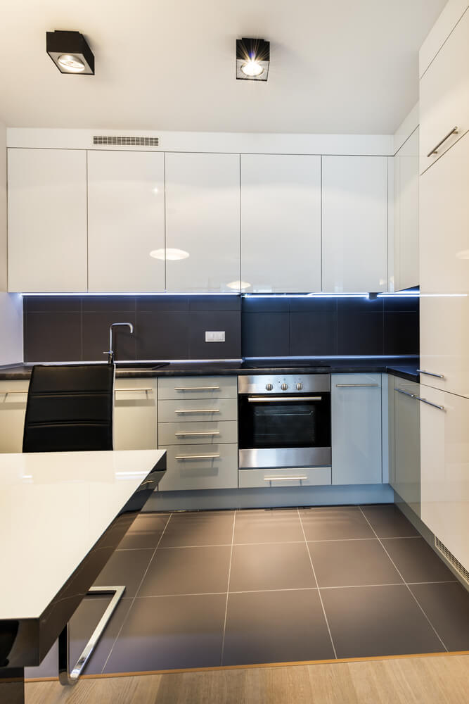 Modern White Kitchen Wood Floor 60 ultra modern custom kitchen designs (part 1) | home stratosphere