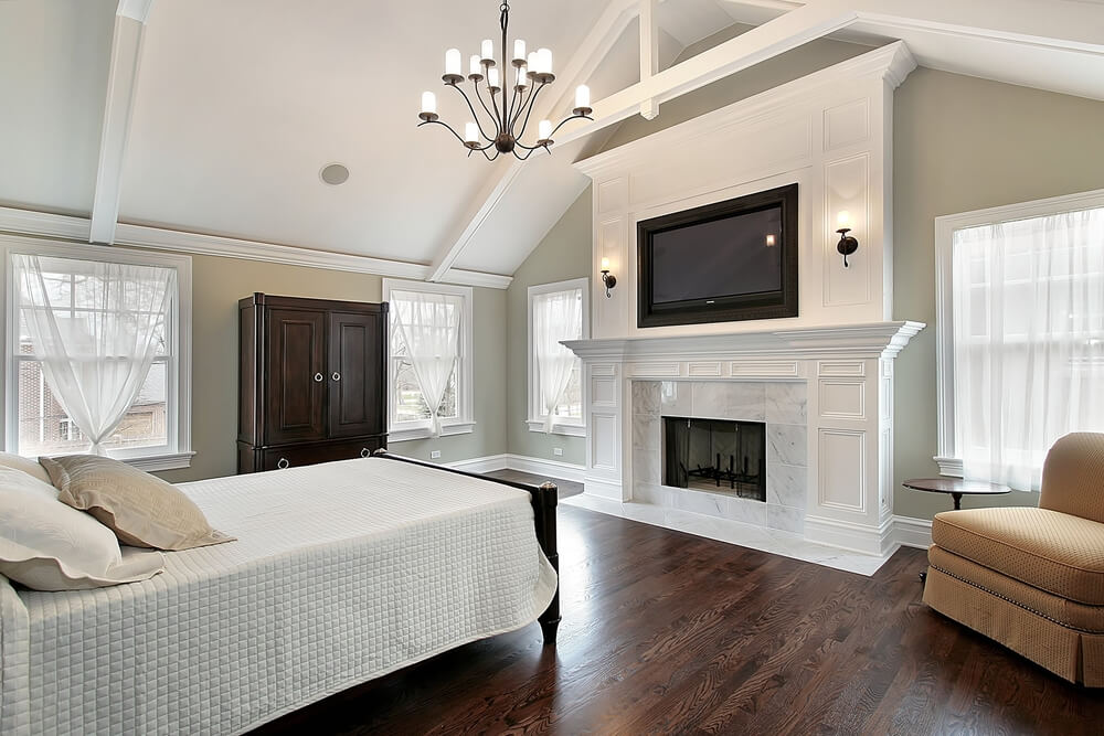 43 spacious master bedroom designs with luxury bedroom - Bedroom electric fireplace ideas ...