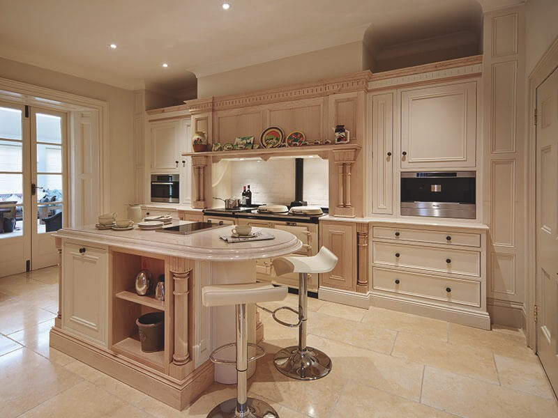This Kitchen Swims In Beige Tones, From From The Tile Flooring Through The  Cabinetry And