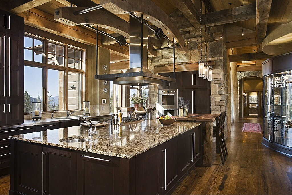 49 contemporary high-end natural wood kitchen designs