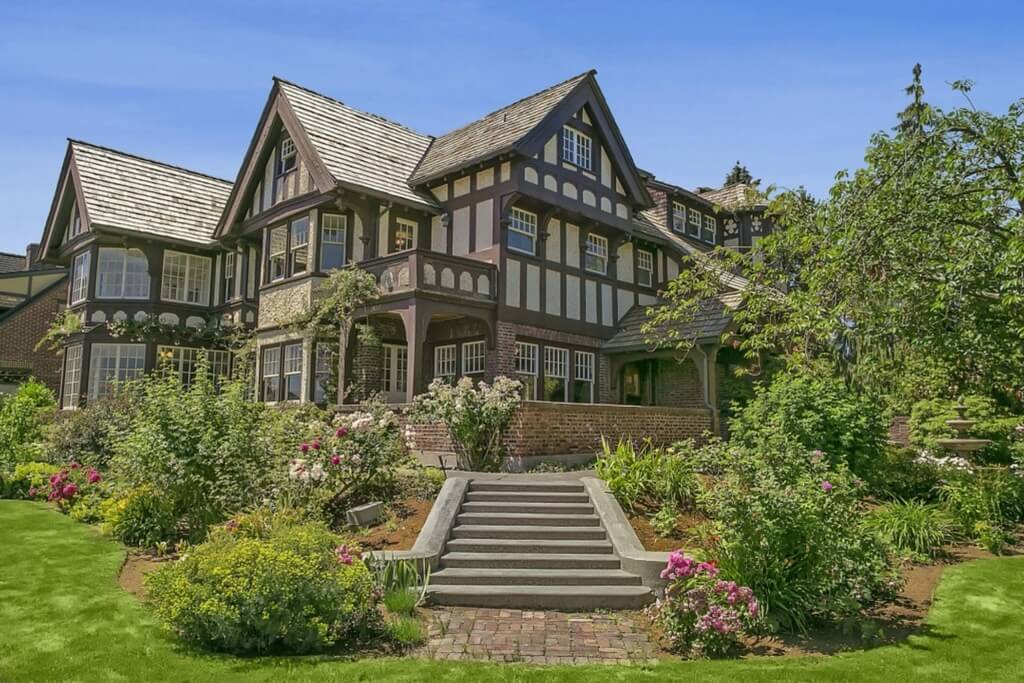 Sprawling Seattle Landmark Tudor Mansion Renovated