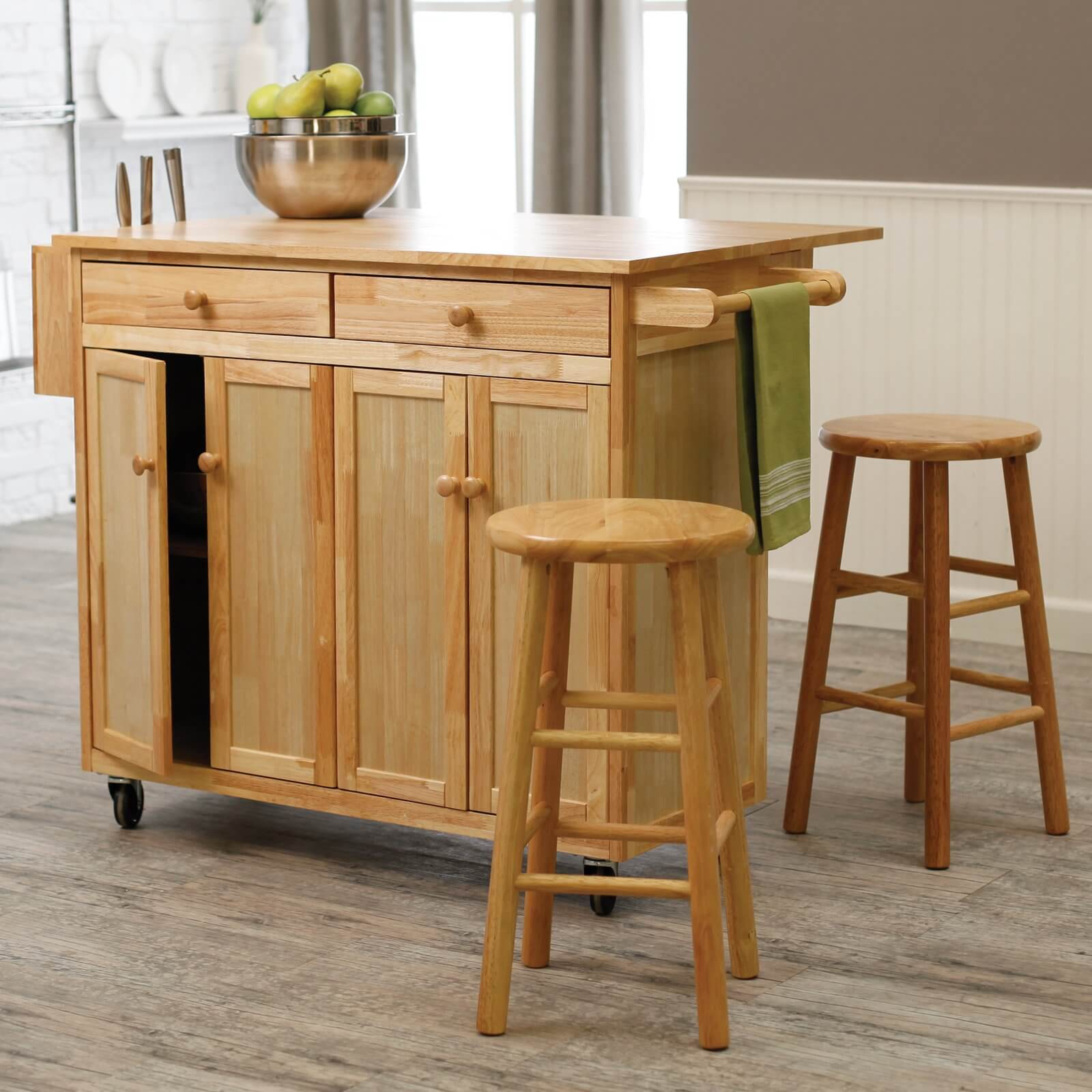 portable kitchen island with seating 10 types of small kitchen islands on wheels 5617