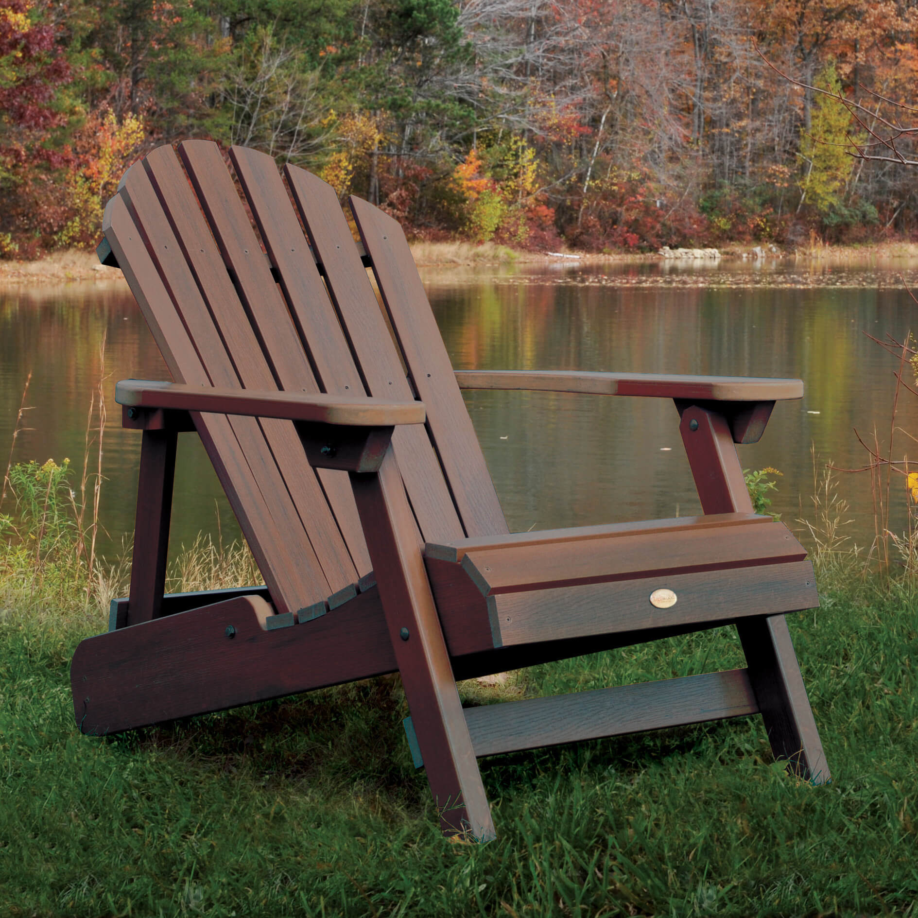 Exceptionnel Reclining Wooden Adirondack Chair