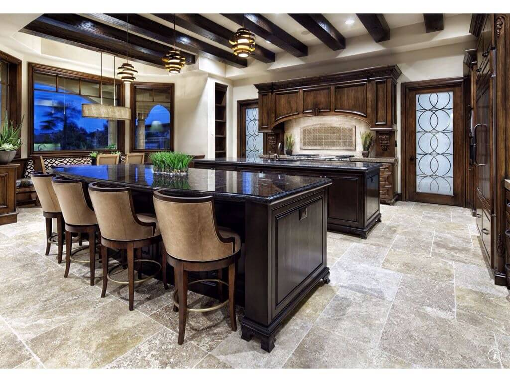 48 luxury dream kitchen designs worth every penny photos for Dark tile kitchen floor