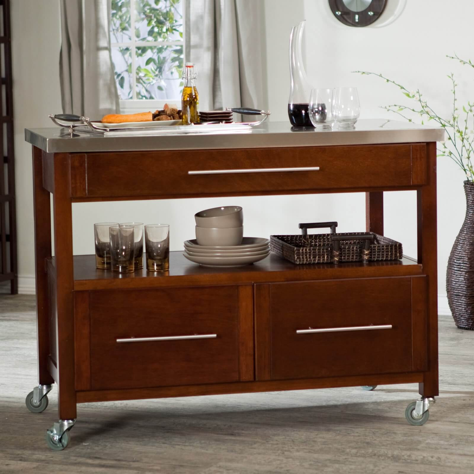 10 Types Of Small Kitchen Islands On Wheels