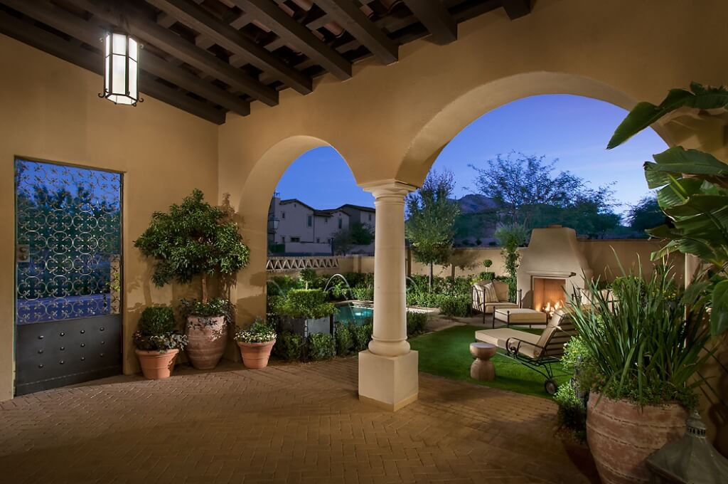 Home Design Backyard Ideas: Stunning Southwest Style Home With Luxurious Interior Design