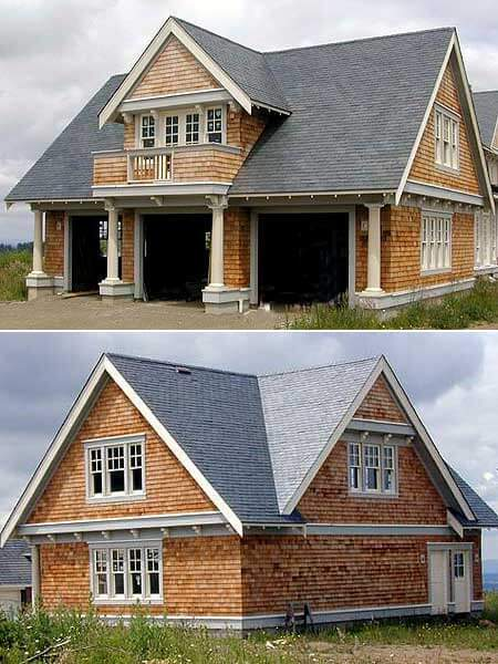 60 residential garage door designs pictures for Carriage home designs