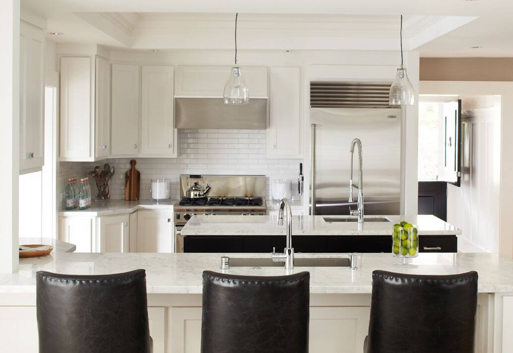White Kitchen Black Floor 41 white kitchen interior design & decor ideas (pictures)