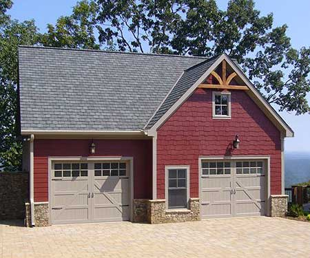 60 residential garage door designs pictures - Red exterior wood paint plan ...