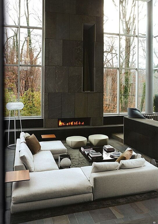 45 contemporary living rooms with sectional sofas pictures - Living room contemporary fireplace design ...