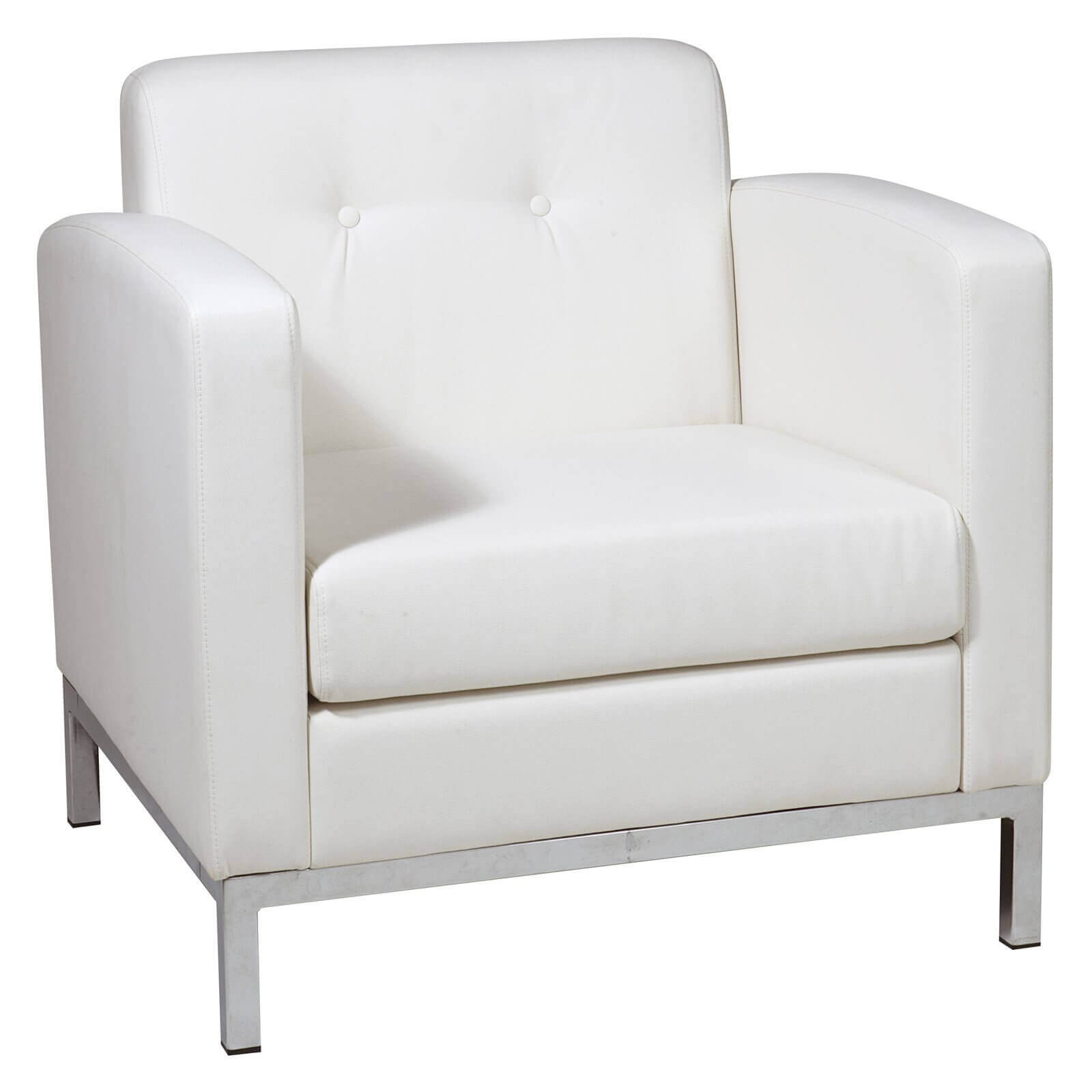 37 white modern accent chairs for the living room for Modern white office chair