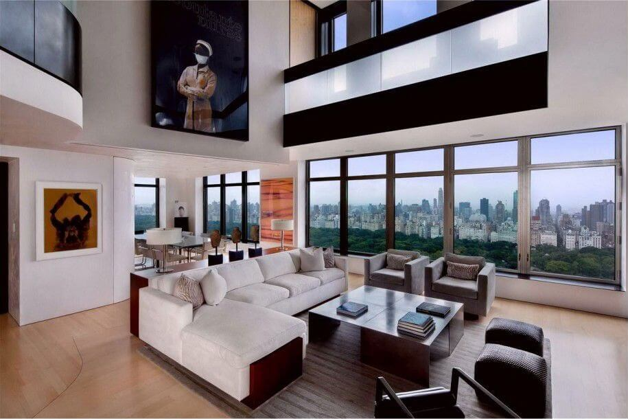 this ultra modern space includes multiple white living room sectional