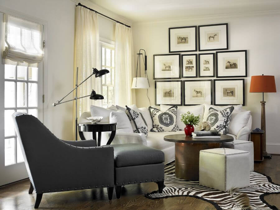 Cozy Small Living Room In The Situated In The Corner Of A Larger Space That  Contains Part 21