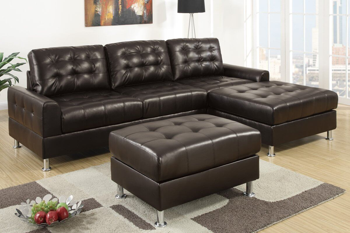 37 beautiful sectional sofas under 1 000 for Small tufted sofa