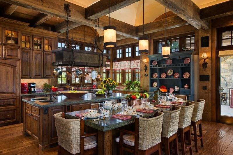 ... dining table, with natural exposed beams overhead. Source: Zillow Digs