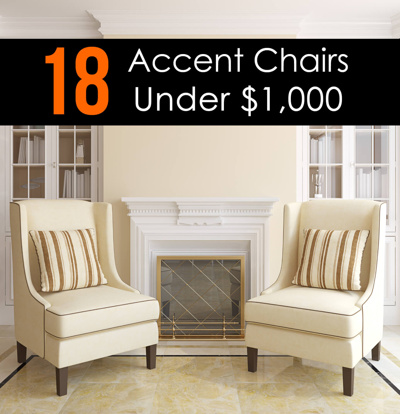 18 attractive accent chairs under 100 for Living room with accent chairs