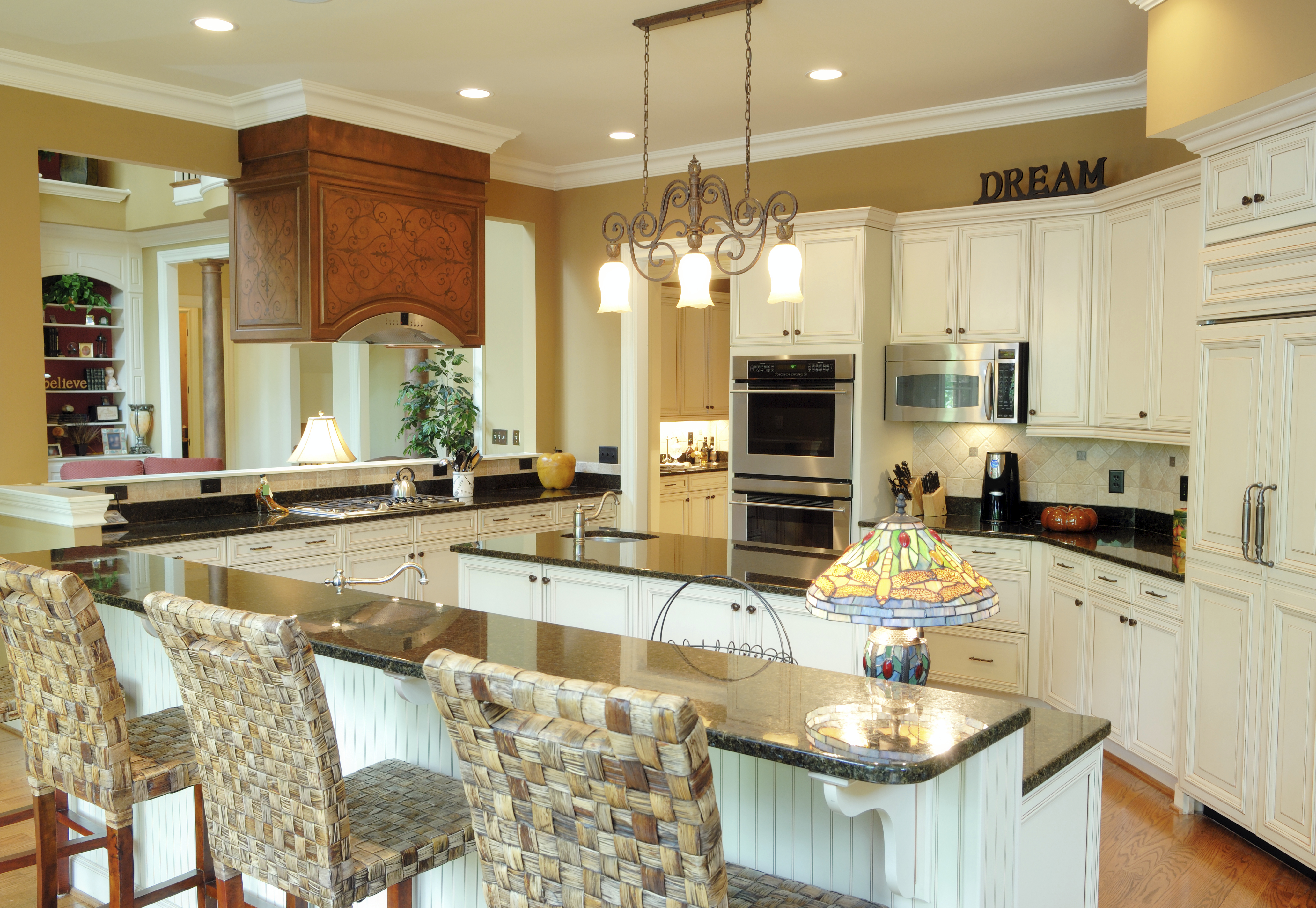 white kitchen designs pictures kitchen with white cabinets Spacious country kitchen with white cabinetry throughout with mustard yellow walls