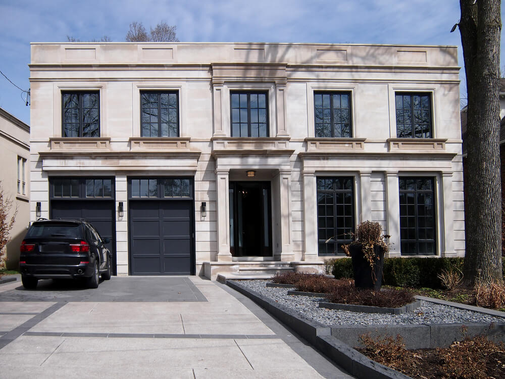 60 residential garage door designs pictures for Garage in front of house