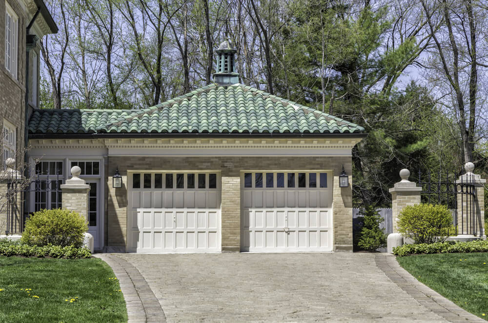excellent house on top of garage. Here we have an attached  front facing garage with two car doors in light wood 60 Residential Garage Door Designs Pictures